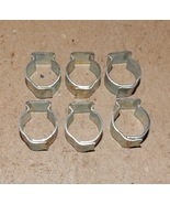 "7/16"" Hose Pinch Clamps Single Ear 6ea Tubing Dixon Keystone Zinc Steel ... - $6.49"