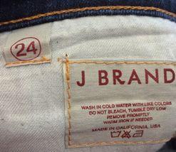 Anthropologie J BRAND Jeans Straight 805 Ink Dark Wash Low Rise Size 24 Women's image 10
