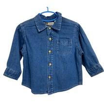 Nwt Faded Glory Jeans Chemise Manches Longues Bébé Bébés 18M - $10.39