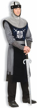 Forum Knight Of The Round Table Costume, Silver/Black, Standard - $54.39