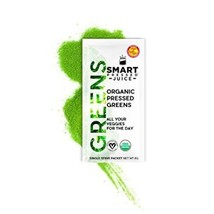 Smart Pressed Organic Greens Superfoods Juice Powder Single Serving Cold... - $36.96