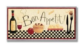 Stupell Home Décor Bon Appetit Kitchen Wall Plaque, 7 x 0.5 x (Bon Appetit) - $35.95