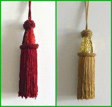 Christmas Tree Ornaments Sequence Tassel Gold or Red 7 inches long - $3.99