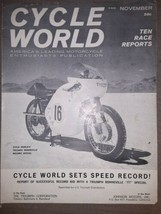 Cycle World Reprint November 1963 Triumph Bonneville TT Special set spee... - $19.79