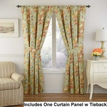 "Waverly Spring Bling Vapor 1 Curtain Panel W Tieback 100% Cotton Floral 52x84""L - $27.87"