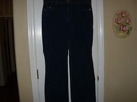 Ladies Junior Size 15 Ellemenno Jeans In Dark Blue Denim Boot Cut - $18.60