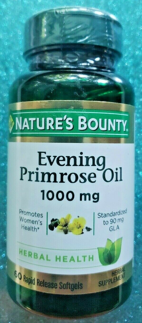 Nature's Bounty Evening Primrose Oil 1000 mg Rapid Release Soft 60 CT. Exp 10/23 - $16.99
