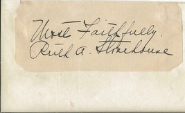 Ruth Stonehouse Signed Vintage 3x5 Index Card JSA - $69.29