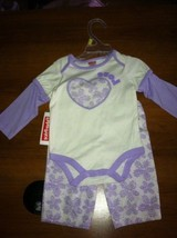 New Fisher Price baby girls 0-3 months purple 2 piece pant set - $9.99