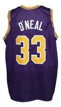 Shaquille O'Neal #33 Custom College Basketball Jersey New Sewn Purple Any Size image 5