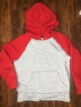 Old Navy Red Gray Boys Hoodie Size 6-7T Stretch - $5.00