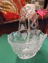 Beautiful Cut Crystal Grapes Design Large BASKET - $29.29