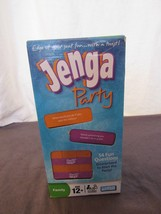 New Jenga Party Wood Blocks 54 Questions Printed on Blocks 2008 NOS - $58.53