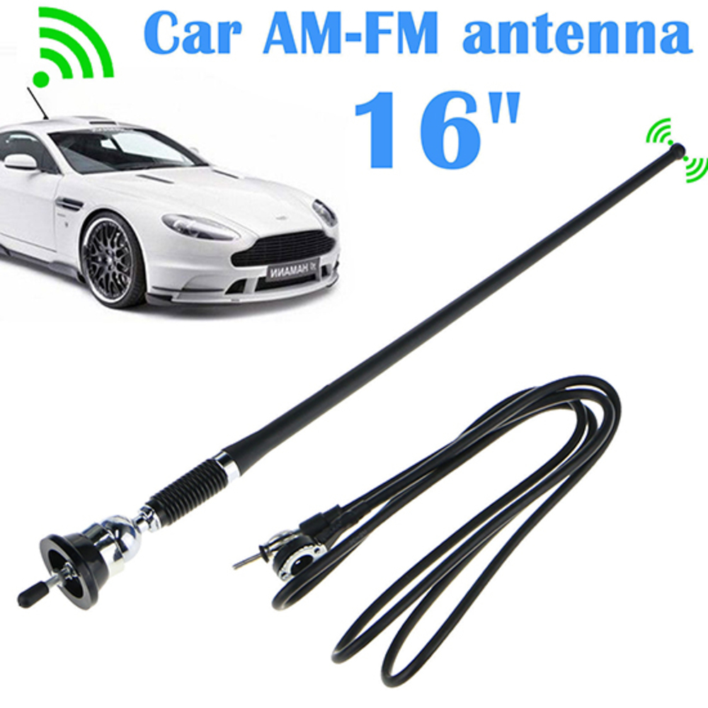 16 Universal Mount Swivel Base Car Radio AM/FM Amplified Signal Aerial Antenna