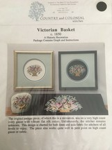 Country and Colonial Stitches Victorian Basket Counted Cross Stitch Pattern - $10.80