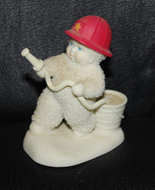 Department 56 Snowbabies Firefighter To The Rescue Fireman Figurine Chri... - $24.70