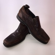 Johnston Murphy Slip-On Dress Casual Brown Shoes Size- 10.5 - Square Toe - $24.74