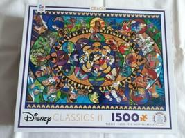 DISNEY CLASSICS II #3402 1500 Piece Ceaco Jigsaw Puzzle Complete 2018 Mi... - $16.90