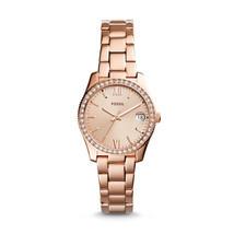 Fossil Scarlette Rose Gold Steel Bracelet ES4318 Ladies Watch - £85.21 GBP