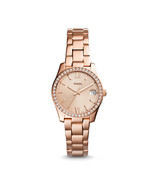 Fossil Scarlette Rose Gold Steel Bracelet ES4318 Ladies Watch - $148.39 CAD