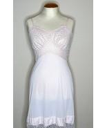 Vintage Van Raalte Lingerie Dress Slip Sz 32 Pink Lace Knee Length Nylon  - $34.65