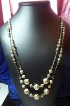 Vintage Double Strand Native Or Southwest Necklace With Flower Rose Beads - $99.99