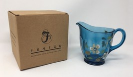 Fenton Art Glass Indigo Blue Hand Painted Pitcher- New! #4264 4B - $85.00