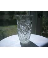 """Vintage Lead Crystal Flower Vase 7""""  West Germany - $36.62"""