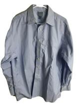 Jos A Bank Mens Stays Cool Long Sleeve Dress Shirt Light Blue sz 17 35 f... - $16.78