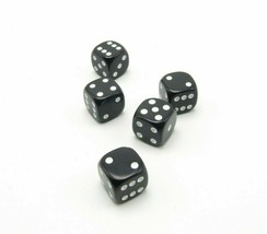 Perudo Black Dice Replacement Game Part Piece Plastic 2008 1808 Rounded Corners - $3.99