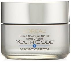 L'Oreal Paris Youth Code Dark Spot Corrector Facial Day Cream SPF 30, 1.... - $23.41