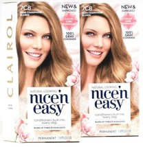 2 Clairol New & Improved Nice'N Easy 7CB Dark Champagne Blonde Permanent... - $29.99
