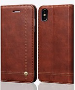 iPhone 10 Case,iPhone X Wallet Case, FLYEE Slim Folio Book Cover PU Leather - $9.40
