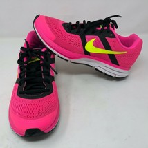 Nike Womens Air Pegasus 30 Bright Pink Yellow Black Running Shoes Size 10 Gym - $64.34