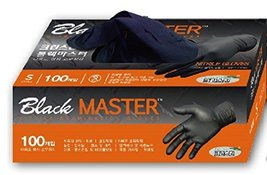 Nitrile glove 100Pcs, for both hands Anti-slip and Latex free, Black