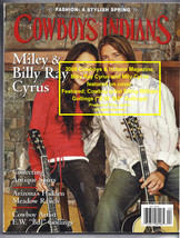 Miley Cyrus, Cowboy Artist  E.W. William, Cowboys and Indians 2008 Magazine - $6.99