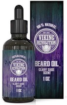 Beard Oil Conditioner - All Natural Clary Sage Scent with Organic Argan & Jojoba image 1