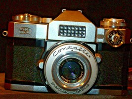 Zeiss Ikon Contaflex Super Camera with hard leather Case AA-192012 Vintage image 2