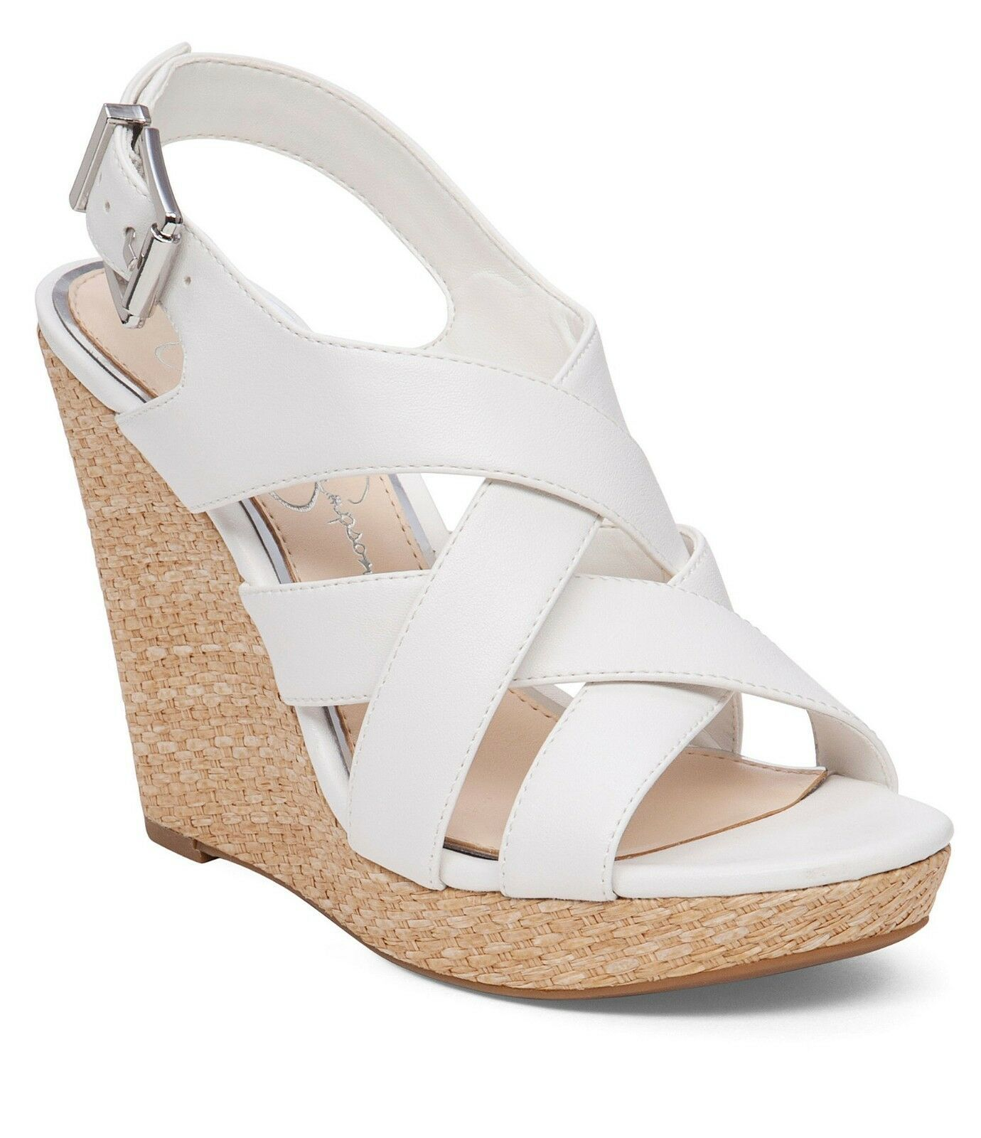 Primary image for Jessica Simpson Jamallo Wedges, Sizes 6.5-10 Powder Sleek JS-Jamallo White