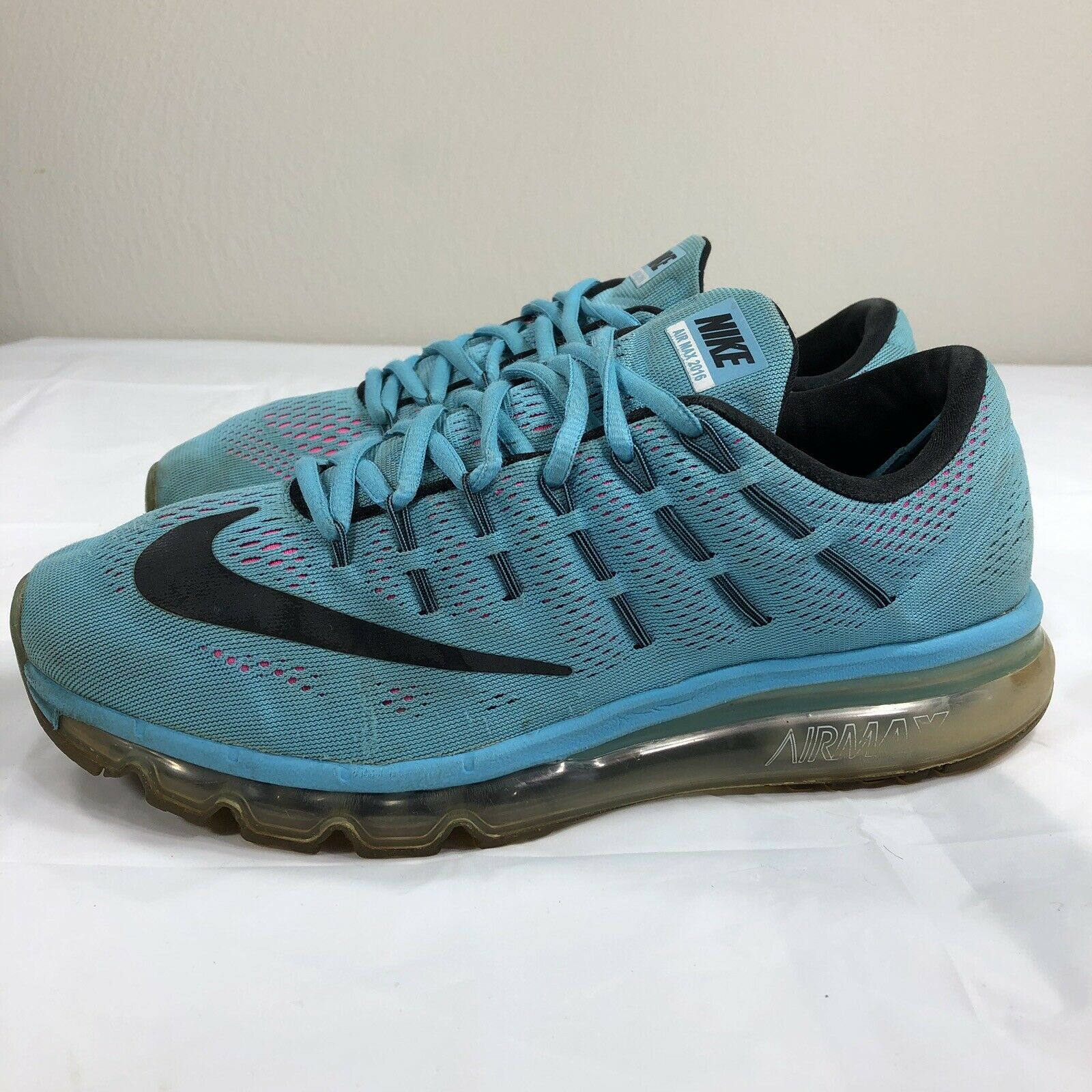 c46db11e93 S l1600. S l1600. Previous. Nike Air Max 2016 Running Shoes Women's 9.5  Trainer Athletic Blue Pink ...