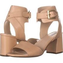 Cole Haan Avani Mid Heeled Buckle Sandals 469, Nude Leather, 9 US - $56.63