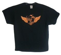 Watch For Motorcycles Graphic Tee Shirt, Ride Free, Hupy & Abraham Size ... - $19.79