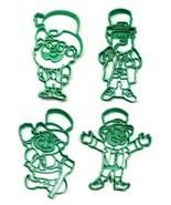 Leprechauns Cheery Irish St Patricks Day Set of 4 Cookie Cutters USA PR1571 - $10.99