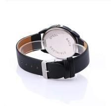 Round Lines Sport Watches Women Black Leather Belt Luxury Wristwatch image 3