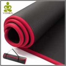 Extra Thick Mat Yoga Fitness Pilates Gym Exercise Pads Bandages Storage ... - $27.04