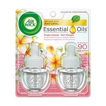 Air Wick Scented Oil Air Freshener, Virgin Islands, Twin Refills, 0.67oz Pack of