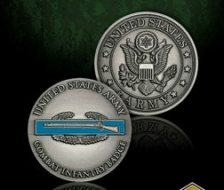 "Army Combat Infantry Combat Badge 1.75"" Challenge Coin - $18.04"