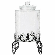 5 Gallon Glass Beverage Dispenser with Metal Stand  - $126.43 CAD