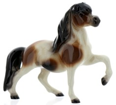 Hagen-Renaker Miniature Ceramic Horse Figurine Calico Pony Leg Up image 1