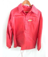 Vintage Swingster Red Faux Fur Lined Nylon Jacket, Size M, Made in USA! - $36.99